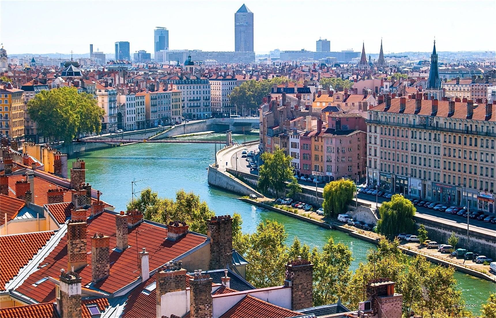 Панорама исторической части Лиона
