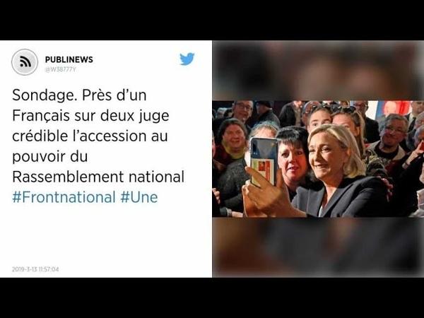 Sondage Près d'un Français sur deux juge crédible l'accession au pouvoir du Rassemblement national