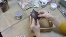Сухарница с микс медиа декором текстурной пастой и скрапбумагой: видео мастер-класс Натальи Жуковой
