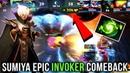 Sumiya Most EPIC Comeback with Invoker 30k Gold Lead Comeback Amazing Refresher Build - Dota 2