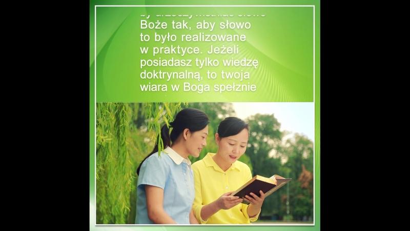 Powinieneś żyć dla prawdy, gdyż wierzysz w Boga