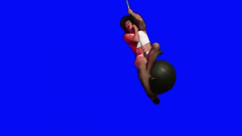 Gachimuchi Wrecking Ball of Van on a blue screen Шаровой таран Вана на синем экране