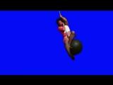 [Gachimuchi] Wrecking Ball of Van on a blue screen (Шаровой таран Вана на синем экране)