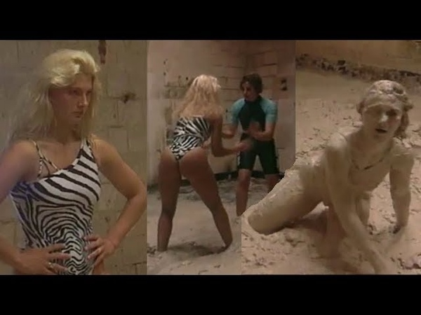 Anne deservedly wins the Fort Boyard mud wrestling: completely humiliating her opponent