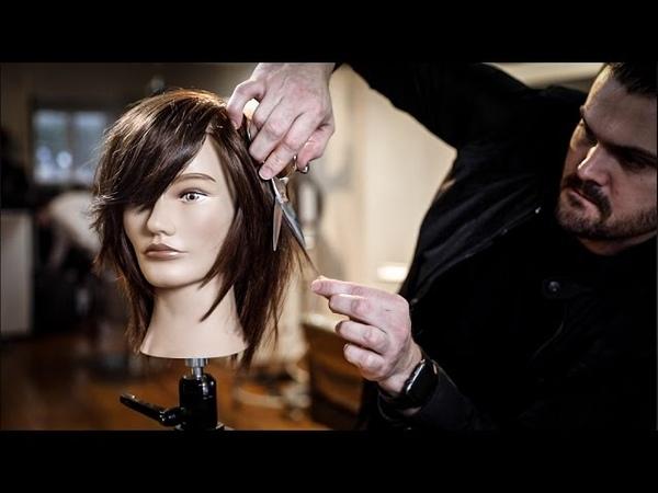 Medium Length Haircut Tutorial - Shag Haircut with Side Bangs | MATT BECK VLOG 93