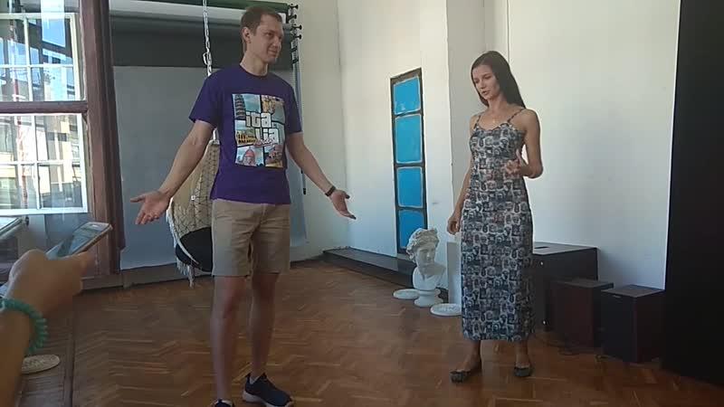 Занятие по импровизации: формат вопросом на вопрос. Мария Рудакас - Владимир Соколов