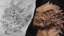 Скульптура выдуманного персонажа Змей наблюдатель Первый урок по лепке