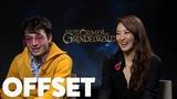 Ezra Miller and Claudia Kim reveal their hybrid Hogwarts houses