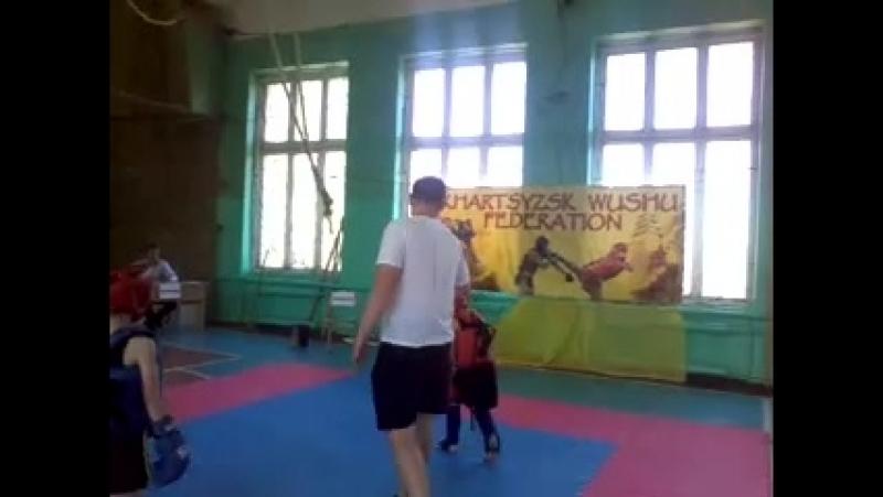 саньда 10 06 2018 второй бой 2 раунд Храмов Канищев
