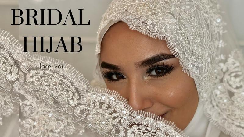 Bridal Hijab With Veil I Gelinbasi I Hochzeitsfrisur