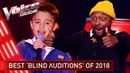 TOP 10   BEST BLIND AUDITIONS OF 2018   The Voice Kids Rewind