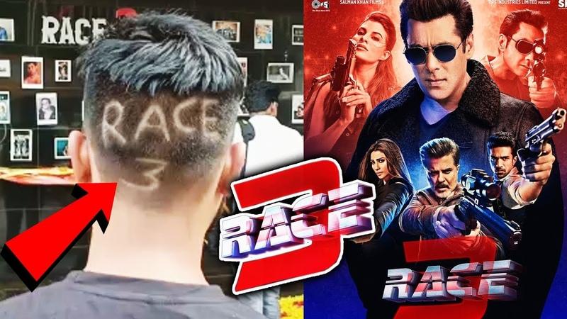RACE 3 HAIR-CUT By Salman Khan's Die-Hard Fan In Mumbai