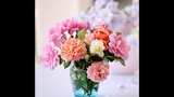 Букет роз маслом в цветной дымке. Нежные розы маслом