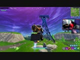 Tfue snipes the same guy mid-air in a cart, twice. Twitch Cl