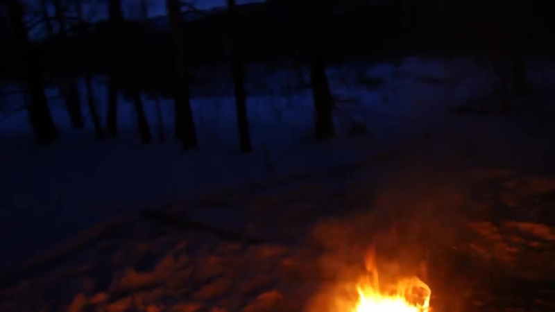 Abvgat Одиночный поход Ночевка зимой без палатки Поход выходного дня