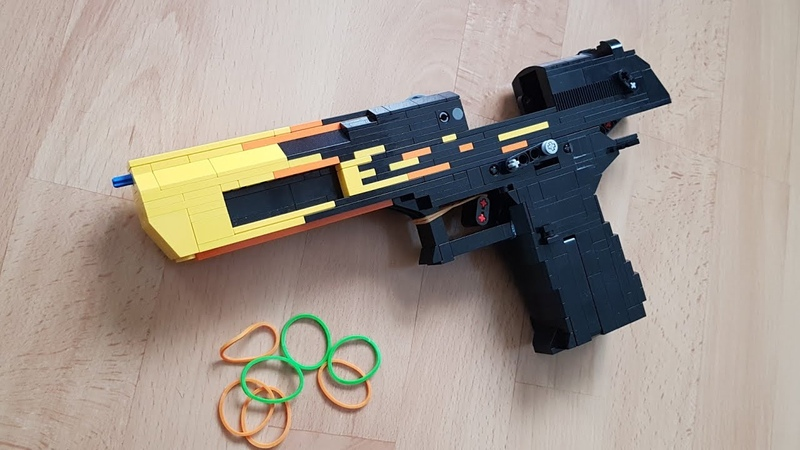 LEGO Desert Eagle - Blaze [Blowback Rubberband Gun]