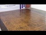 Кирпичная кладка по шаблону на бетоне
