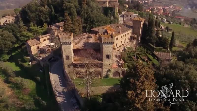 Italian historic castle, Tuscany, Italy