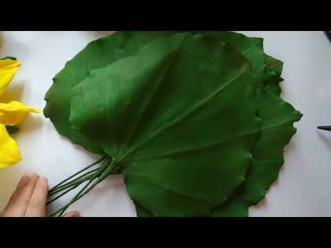 МК Красивые листья для ростовых подсолнухов
