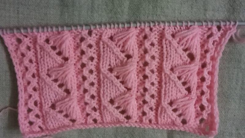 Easy Single Color Knitting Pattern No.95  Hindi