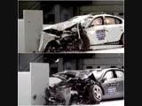 Краш-тест BMW 5 Series и Mercedes-Benz E-Class.