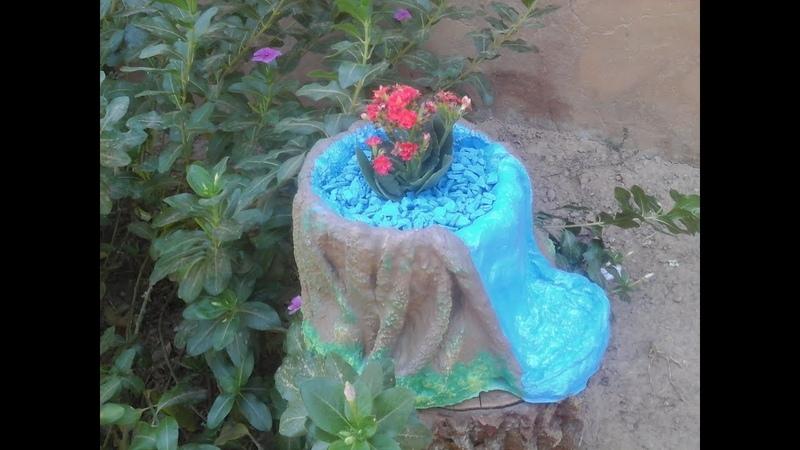 Vamos reciclar! não jogue fora tecidos velhos, com eles se faz lindos vasos ^^