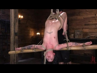 Charlotte sartre - submissive goth girl is bound, tormented, and made to cum [bdsm, bondage, crop, domination]