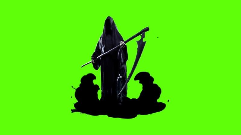 Death Halloween Demon with Black Smoke - Green Screen Footage Free