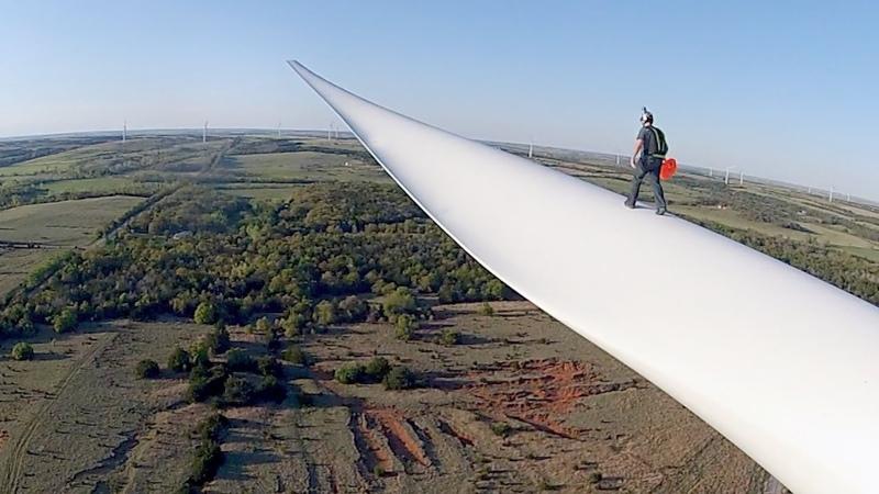 Bladerunner Wind Turbine BASE Jump
