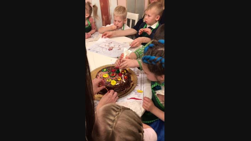Мастер-класс «Именинный тортик»