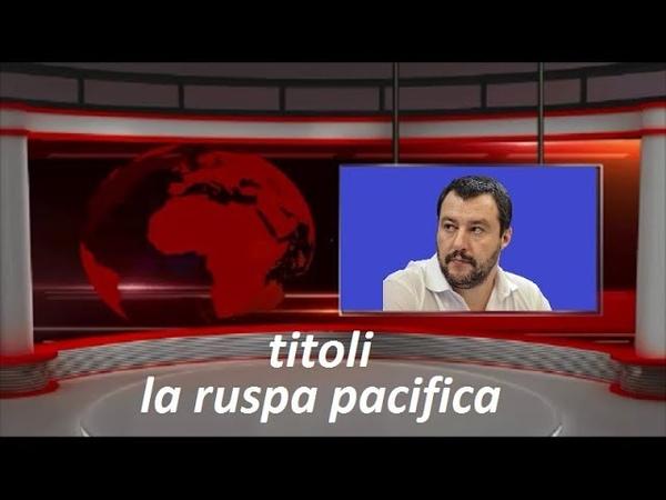 MATTEO SALVINI SPIEGA IL SUO PIANO PERI I ROMHO PRONTO LE RUSPE PACIFICHE!
