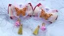 Легкие бантики из органзы и репса мк Arcos de organza ligeros Light Organza Bows