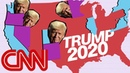 Donald Trump's narrow 2020 map English vodeo usa Trump DonaldTrump elections polls elections2020 international_relations