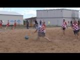 Болельщики Аргентины и Хорватии сыграли пляжный футбол