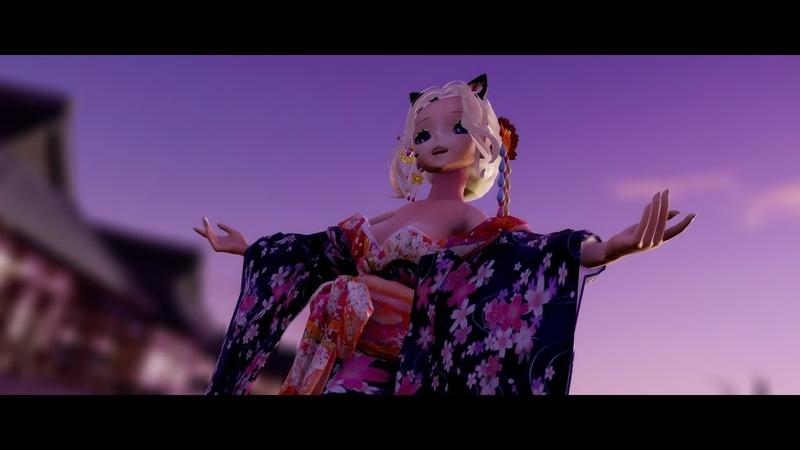 MMD 夢と葉桜 Yume to Hazakura SeeU Kimono HD 1080p60fps