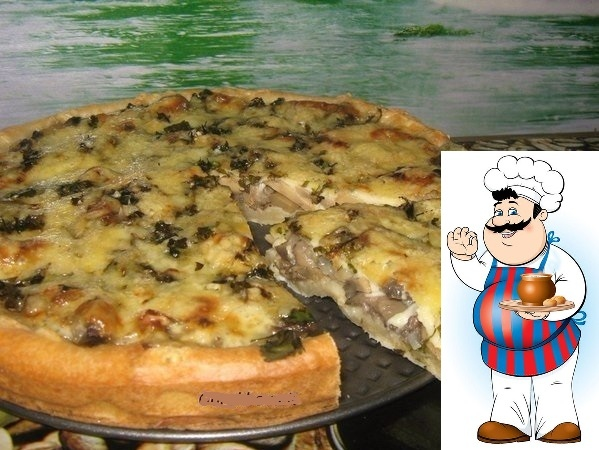 Мега грибной пирог Настоящая вкуснятина...