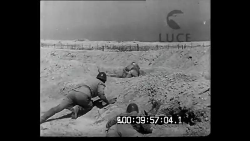 Battaglia di El Alamein- soldati italiani attaccano il nemico (1942)