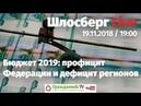 Бюджет 2019: профицит Федерации и дефицит регионов / Шлосберг Live 91 / 19.11.2018
