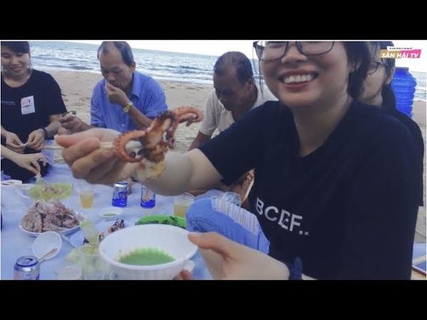 Dã Ngoại Biển Quy Hòa Với Bạch Tuộc, Cá Ninja Nướng - 【SĂN HÁI TV】