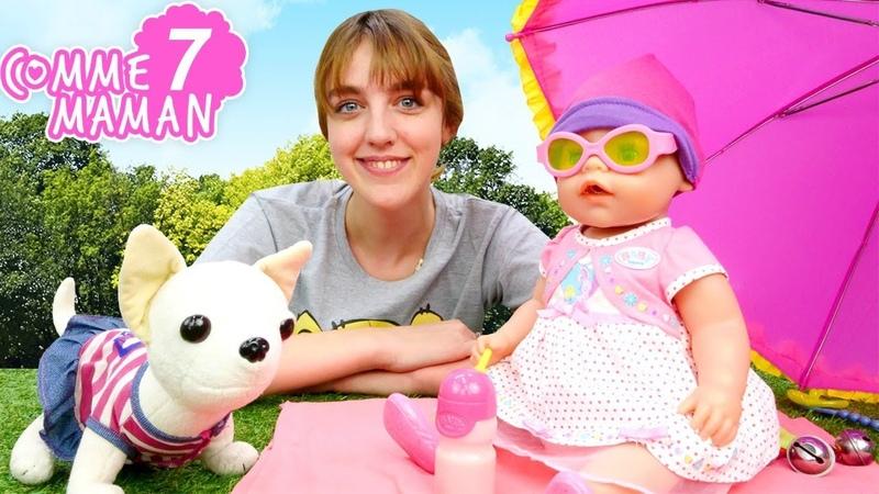 Comme maman № 7 Vidéo en français pour enfants Jeux avec Babyborn Emilie à la plage