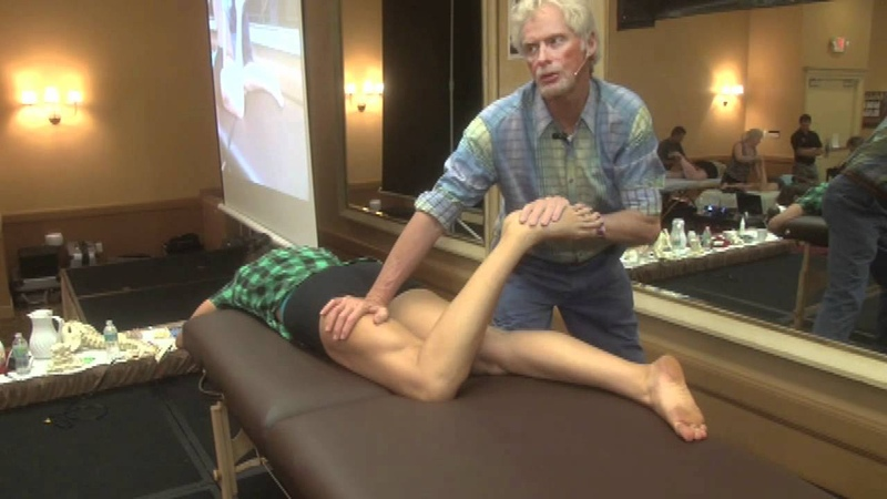 Myofascial, deep tissue assisted stretching for Hamstrings