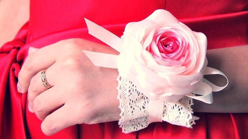БРАСЛЕТ Подружки Невесты своими руками Bridesmaid Flower Bracelet Tutorial ✿ NataliDoma