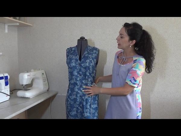 Платье из тонкой джинсовой ткани!
