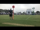 Thompson with a catch, Huff with a tackle CowboysCamp Day 4