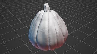 Sculpting a Jack O' Lantern (Timelapse 1) : Realistic Characters with Blender Workshop Pt. 2