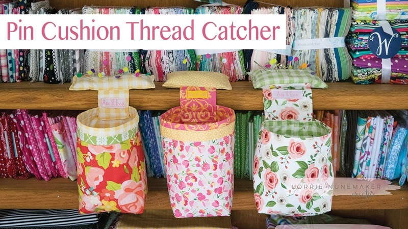 Pin Cushion Thread Catcher Free SVG included