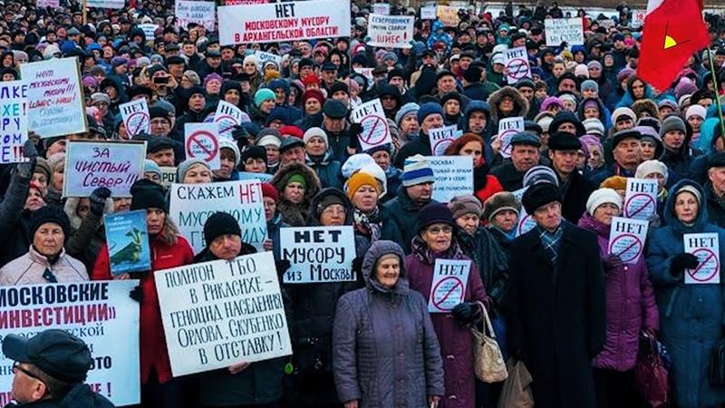 Многотысячные митинги в Архангельске, а Киселёв читает рэп