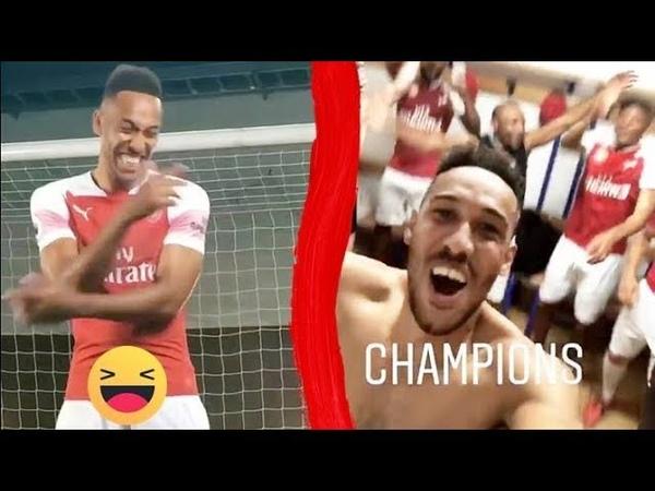 Arsenal Inside Dressing room Funny Videos Aubameyang Lacazette