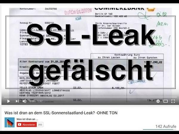 SSL Verfassungsschutz LEAKS von Russen gefälscht PLAN B FLUCHT NACH VORN