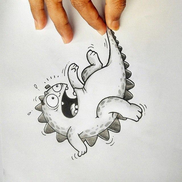 Смешной дракончик картинки карандашом